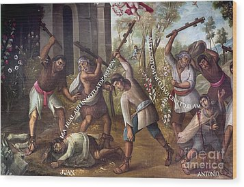 Mexico: Christian Martyrs Wood Print by Granger