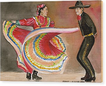 Mexico City Ballet Folklorico Wood Print