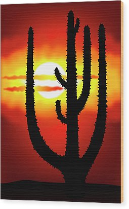 Mexico Sunset Wood Print by Michal Boubin