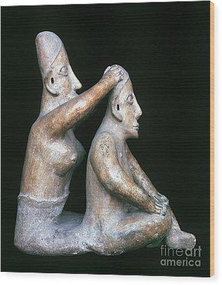 Mexico: Totonac Figures Wood Print by Granger