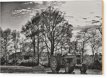 Mf 285 Tractor Wood Print by Kelly Reber