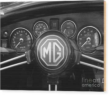 Mg Midget Dashboard Wood Print