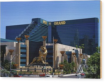 Mgm Grand Hotel Casino Wood Print by Mariola Bitner