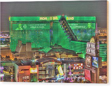 Mgm Grand Las Vegas Wood Print by Nicholas  Grunas