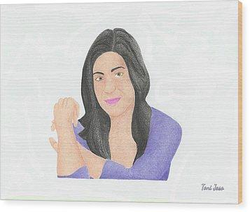 Mia Rose Wood Print