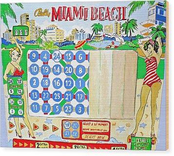 Miami Beach Wood Print