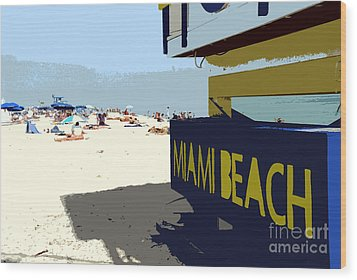 Miami Beach Work Number 1 Wood Print by David Lee Thompson