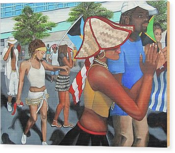 Miami Carnival Wood Print by Alima Newton