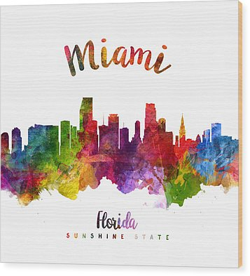 Miami Florida 23 Wood Print by Aged Pixel
