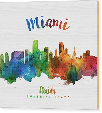 Miami Florida 25 Wood Print by Aged Pixel