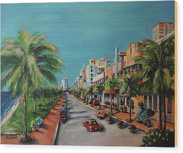 Miami For Daisy Wood Print by Dyanne Parker