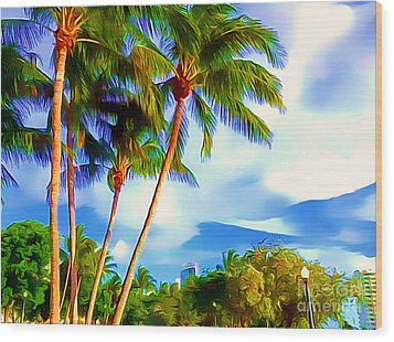 Miami Maurice Gibb Memorial Park Wood Print