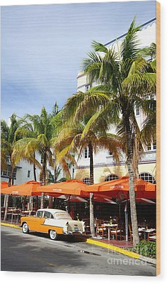 Miami South Beach Ocean Drive 8 Wood Print by Nina Prommer