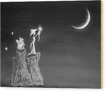 Micah Monk 11 - Light Up The Sky Wood Print by Lori Grimmett