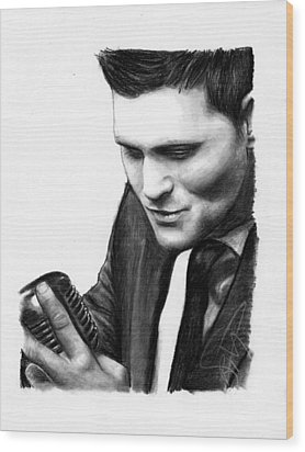 Michael Buble Wood Print by Rosalinda Markle