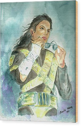 Michael Jackson - Dangerous Tour  Wood Print by Nicole Wang