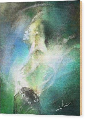 Michael Jackson 15 Wood Print by Miki De Goodaboom