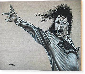Michael Jackson Wood Print by Anastasis  Anastasi