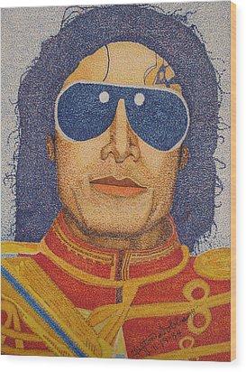 Michael Jackson Wood Print by Clifton Dobbs