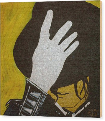 Michael Jackson Wood Print by Estelle BRETON-MAYA