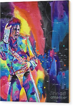 Michael Jackson Flash Wood Print by David Lloyd Glover