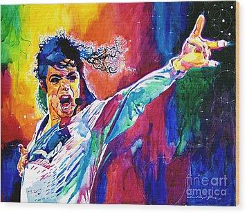 Michael Jackson Force Wood Print by David Lloyd Glover