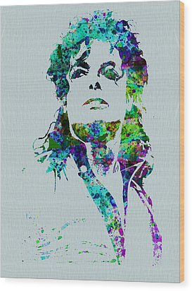 Michael Jackson Wood Print by Naxart Studio