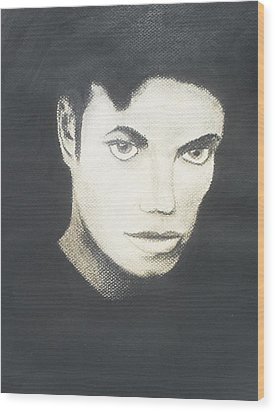 Michael Jackson Wood Print by M Valeriano