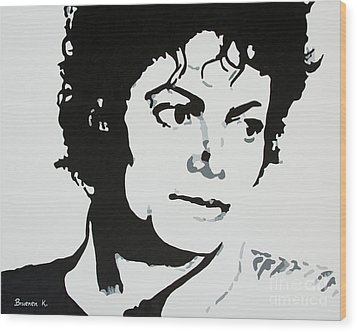 Michael Jackson Wood Print by Katharina Filus