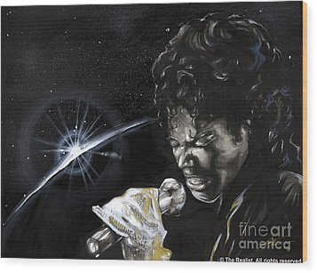 Michael Jackson Wood Print by Keith  Thurman