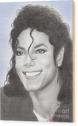 Michael Jackson #nineteen Wood Print by Eliza Lo