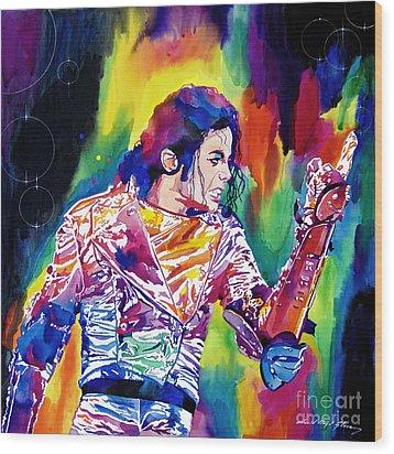 Michael Jackson Showstopper Wood Print by David Lloyd Glover