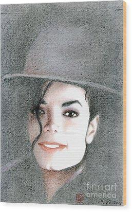 Michael Jackson #sixteen Wood Print by Eliza Lo