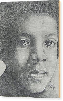 Michael Jackson Wood Print by Stephen Sookoo