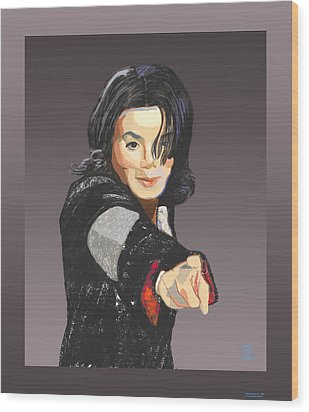 Michael Jackson-tell It Like It Is Wood Print