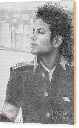 Michael Jackson #twenty-two Wood Print by Eliza Lo