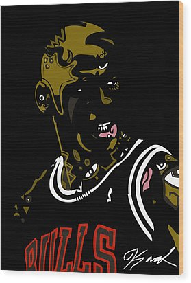 Michael Jordan Wood Print by Kamoni Khem