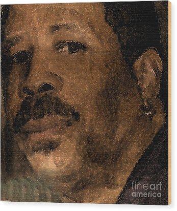 Michael Portrait Wood Print by Cedric Hampton