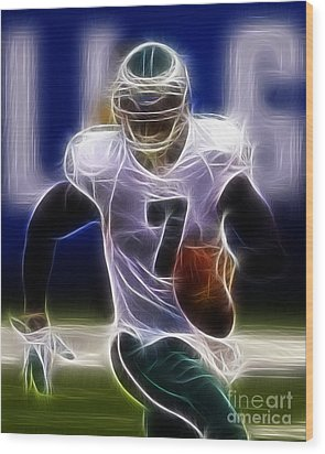 Michael Vick - Philadelphia Eagles Quarterback Wood Print by Paul Ward