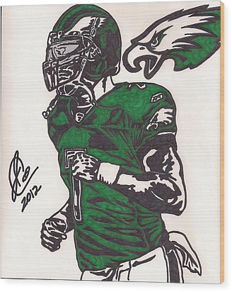 Micheal Vick Wood Print by Jeremiah Colley