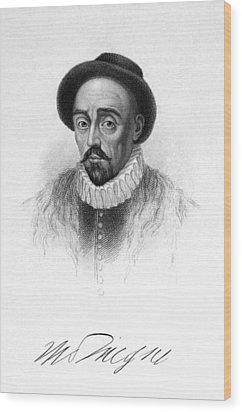 Michel Eyquem De Montaigne Wood Print by Granger