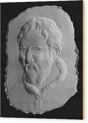 Michelangelo Wood Print by Suhas Tavkar