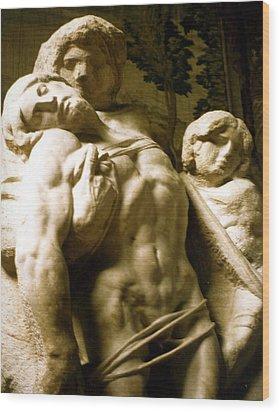 Michelangelo Unfinished Work Wood Print