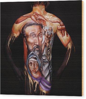 Michelangelo_i Wood Print by Cully Firmin
