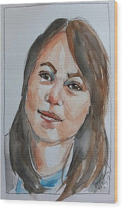 Michelle Wood Print by Janet Butler