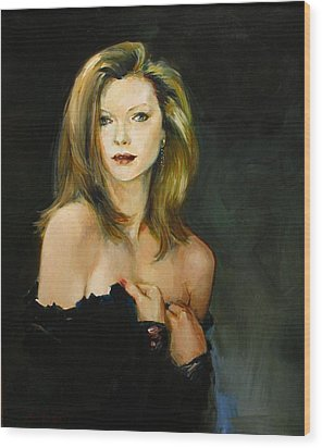 Michelle Pfeiffer Wood Print by Tigran Ghulyan