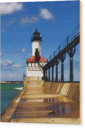 Michigan City Light 1 Wood Print