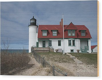 Wood Print featuring the photograph Michigan Lighthouse II by Gina Cormier