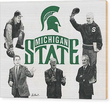 Michigan State Coaching Legends Wood Print