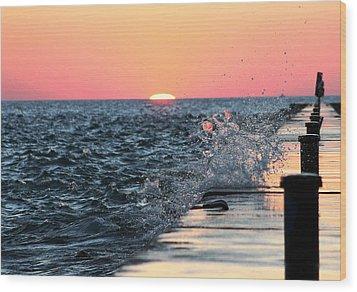 Michigan Summer Sunset Wood Print by Bruce Patrick Smith